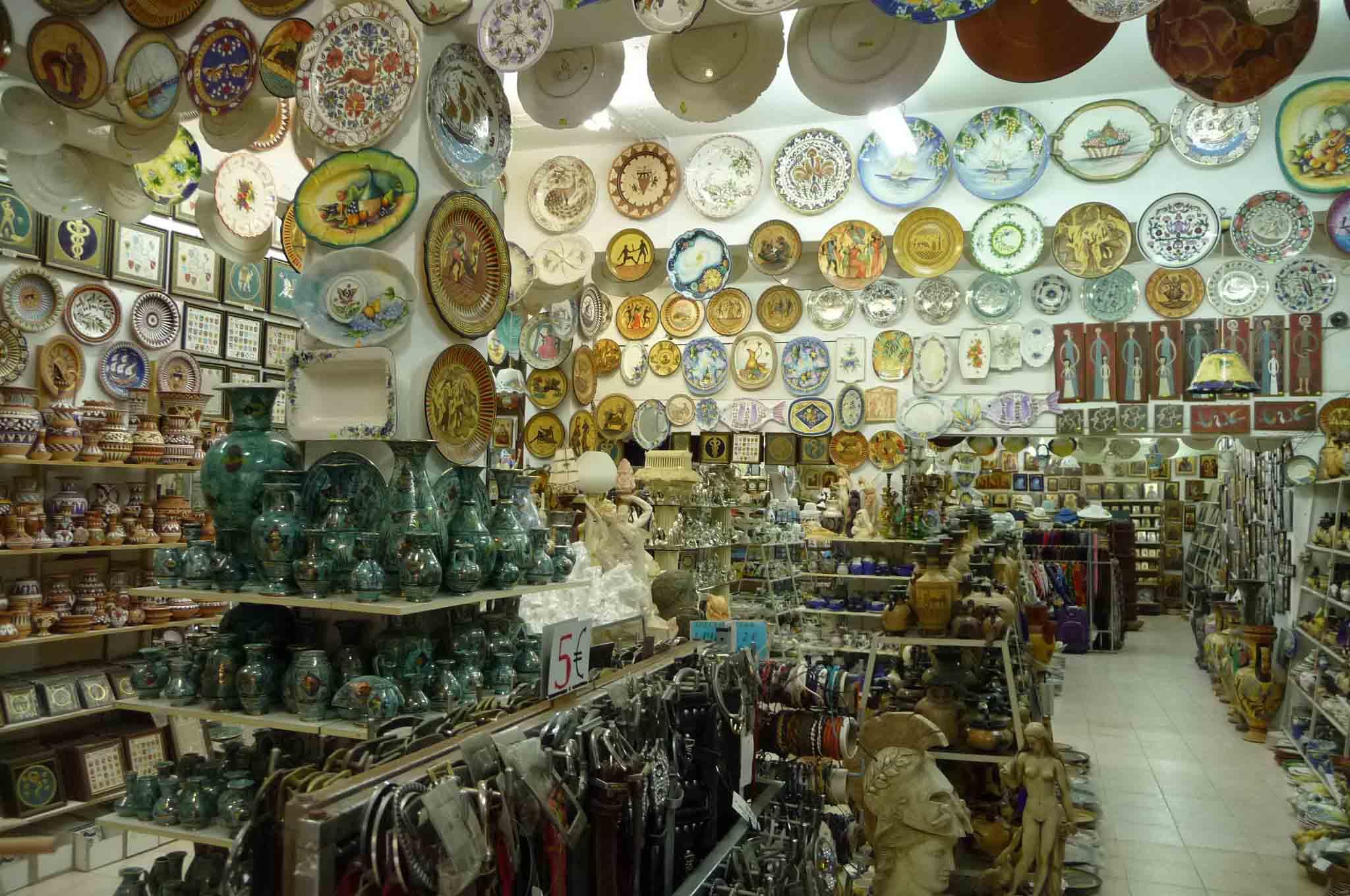 Магазины керамики на Родосе