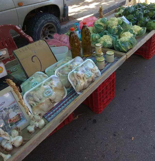 Продукты выращенные на своем огороде на острове Родос