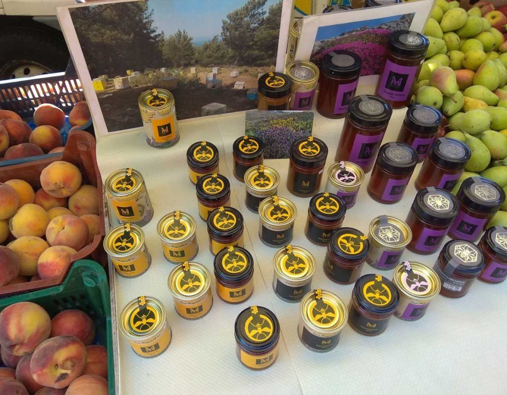 Купить мед на фруктовом рынке Родоса