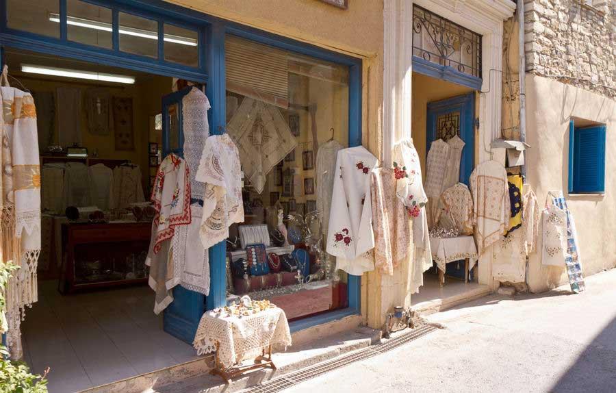 Магазин текстиля ручной работы на острове Родос