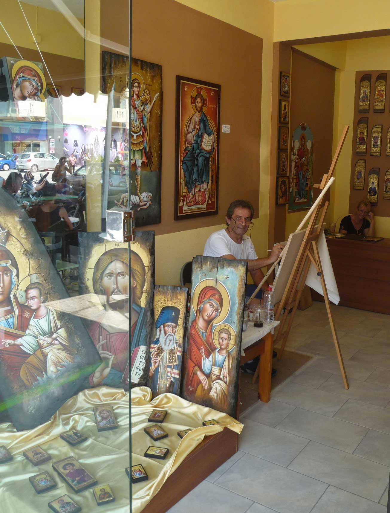 Мастерская иконописи и магазин икон на острове Родос