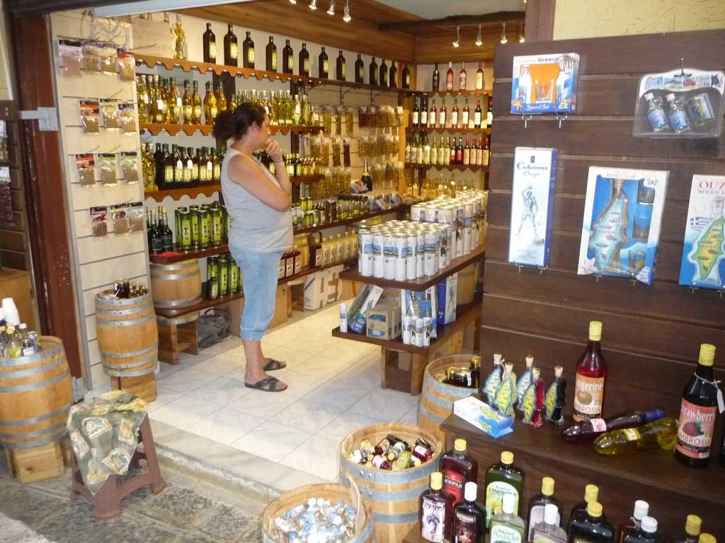 Винный магазин на острове Родос