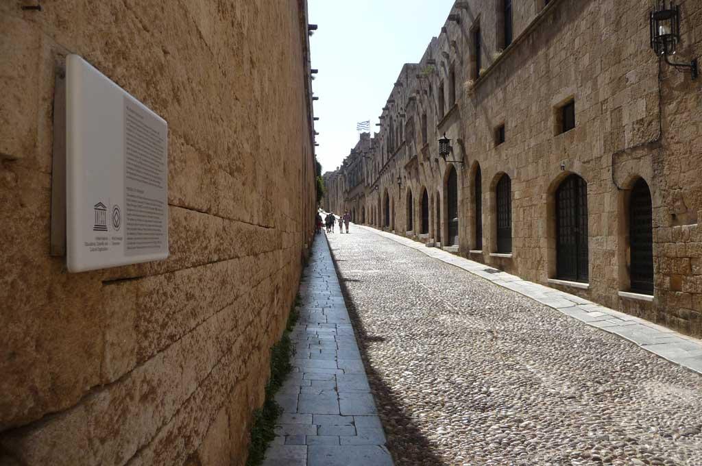Улица Рыцарей в Старом городе на острове Родос