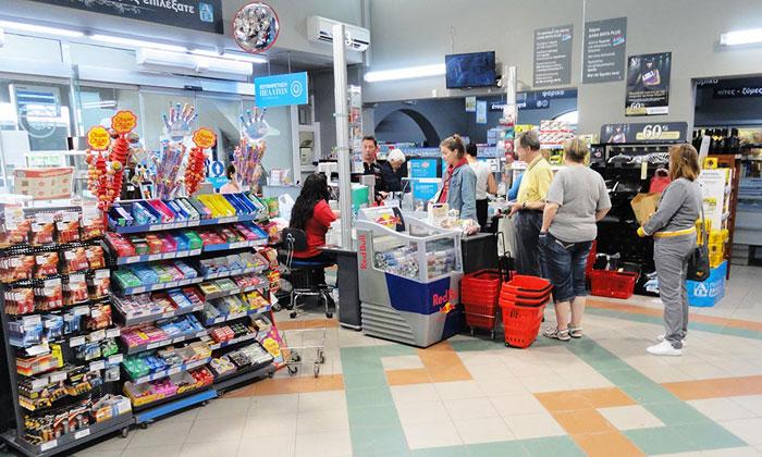 Касса в супермаркете АБ