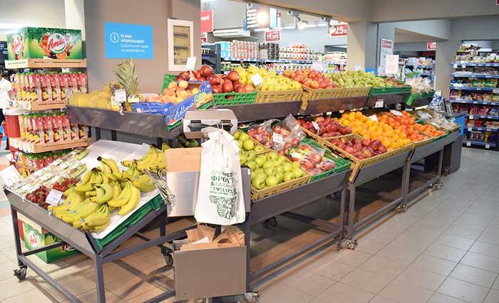 Овощи в супермаркете АБ Фалираки