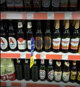 Пиво в супермаркете Папу на Родосе
