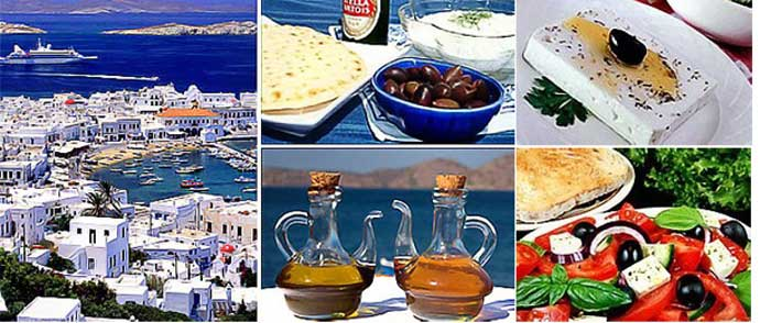 Греческие продукты питания