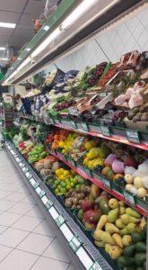 Овощи в супермаркете Папу на Родосе