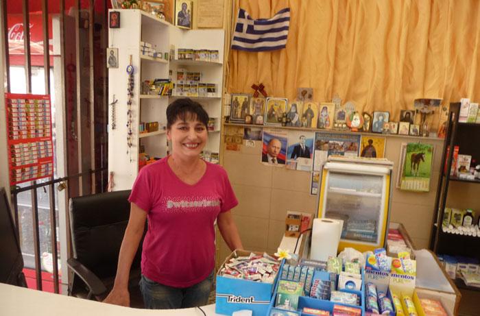 Хозяйка русского магазина на Родосе
