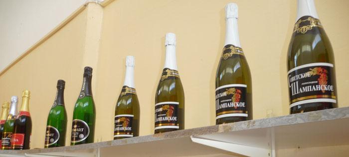 Советское шампанское в русском магазине на Родосе