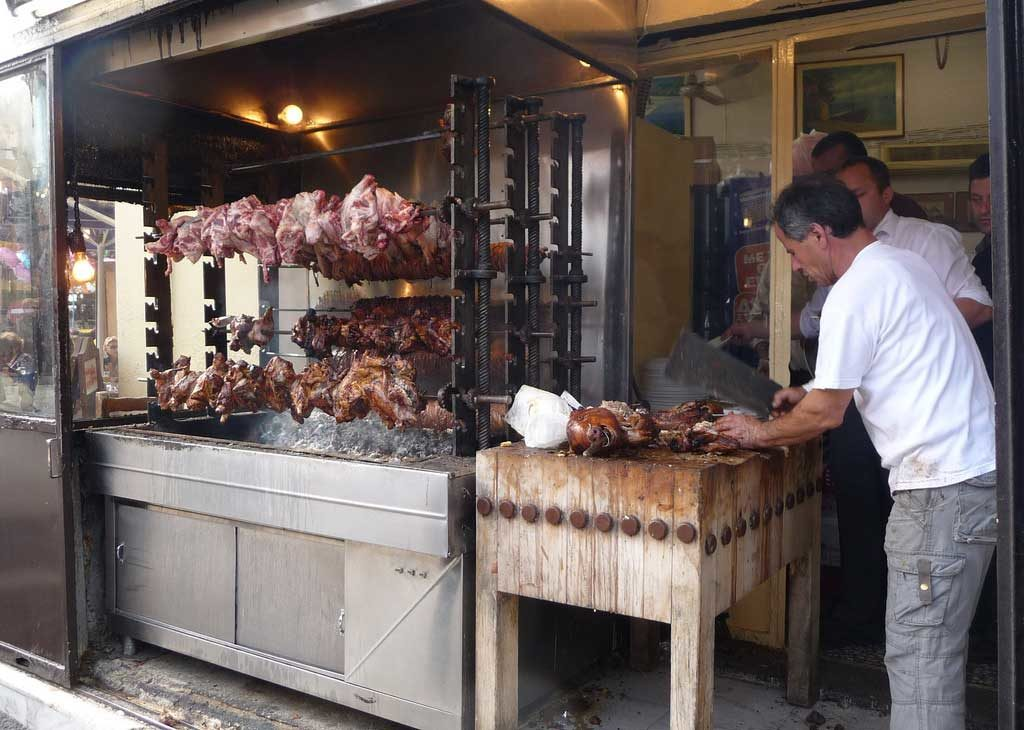Псистария - традиционный греческий гриль