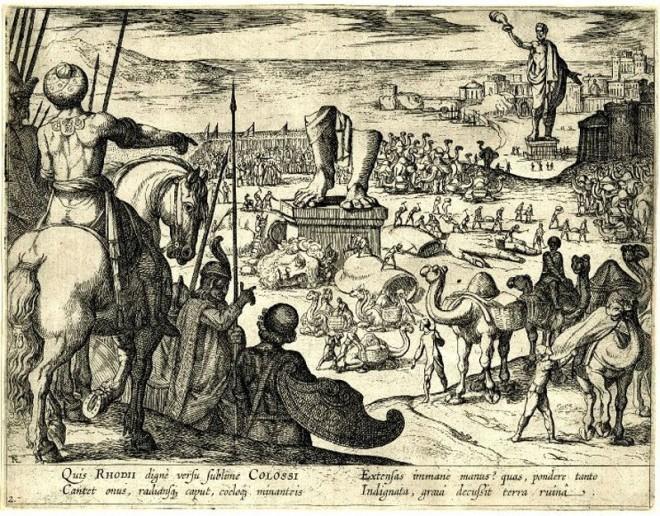 Разграбление арабами статуи Колосса Родосского на переплавку