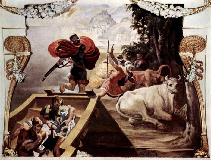 Одиссей крадет быков бога Гелиоса