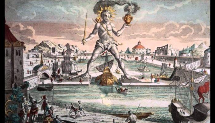Колосс Родосский. Гравюра 16 века