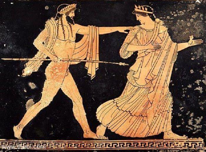 Посейдон женится на нимфе