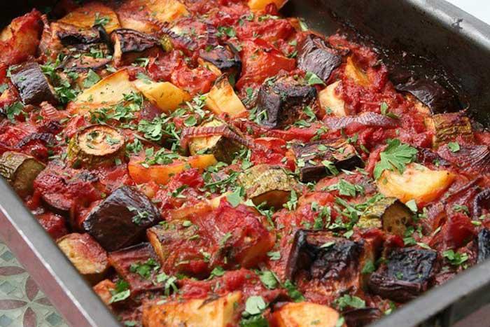 Бриам или греческое овощное рагу с острова Родос
