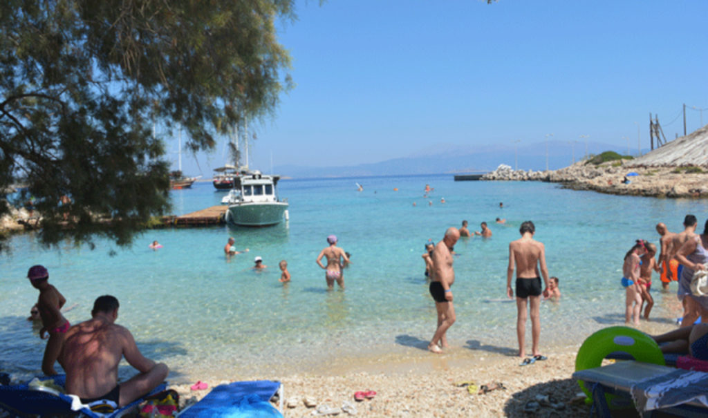 Пляж в гавани Камирос-Скала остров Родос