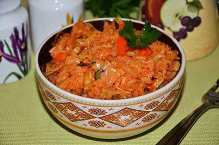 Лаханоризо или Рис с капустой. Простой греческий рецепт