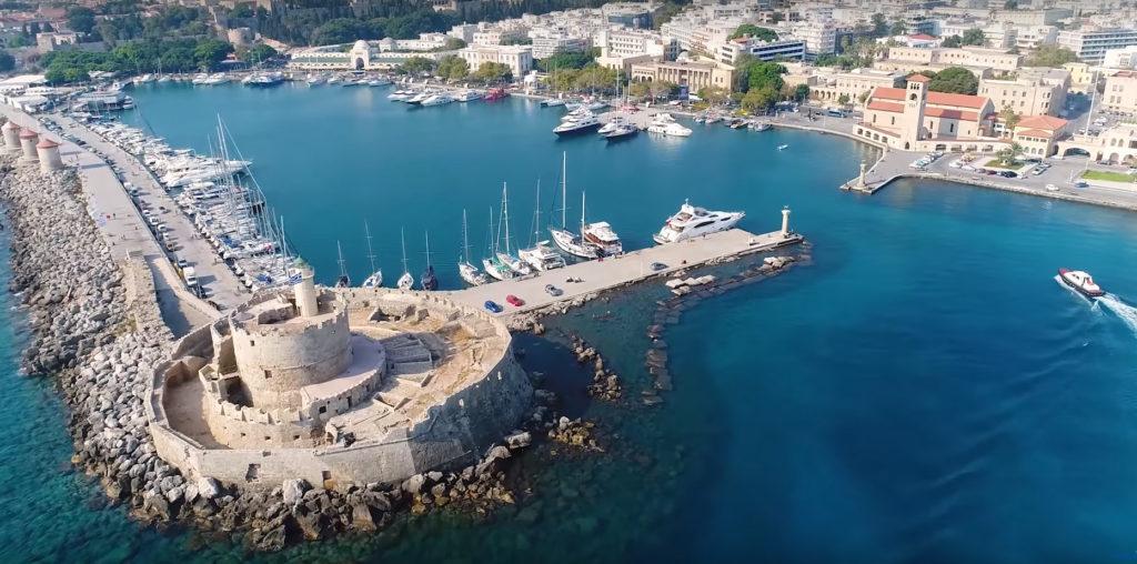 Остров Родос - гавань Мандраки