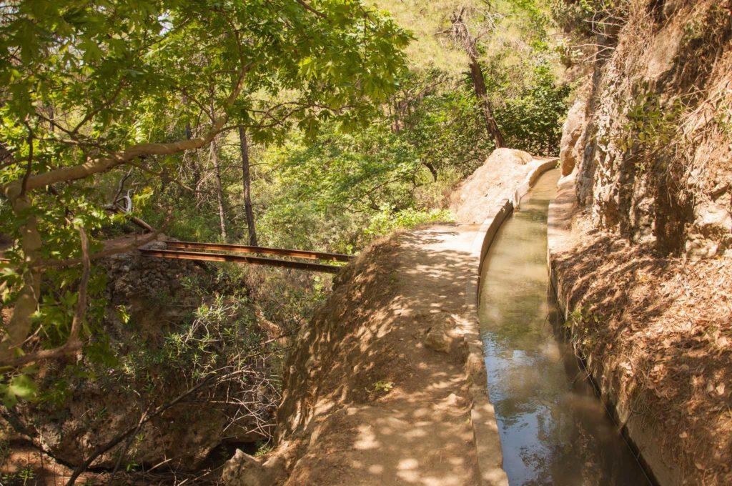 Верхний канал в Заповеднике Семь источников на острове Родос