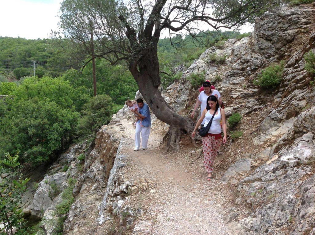 Тропа в Заповеднике Семь источников на острове Родос