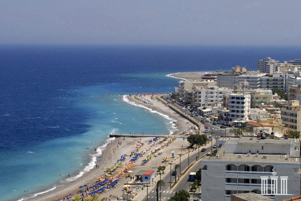 Эгейское побережье пляжа Элли