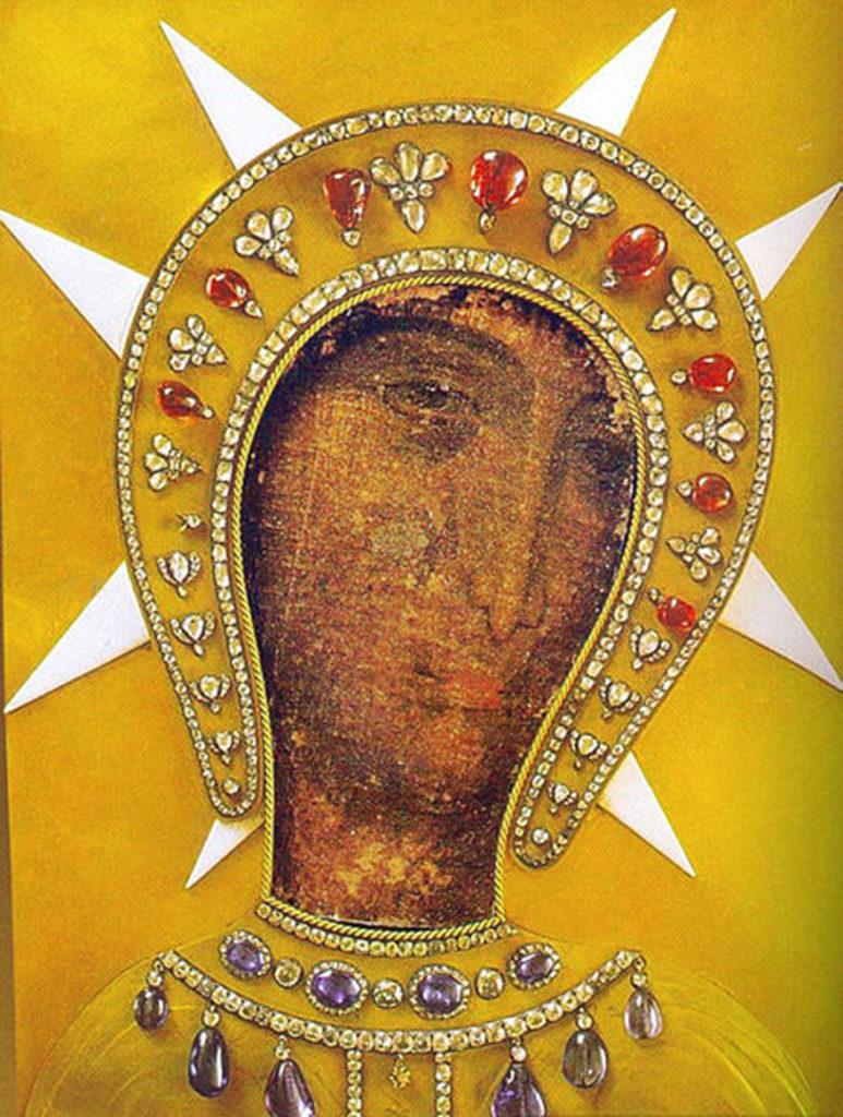 Икона Богородицы Филеримской в новом окладе на острове Родос