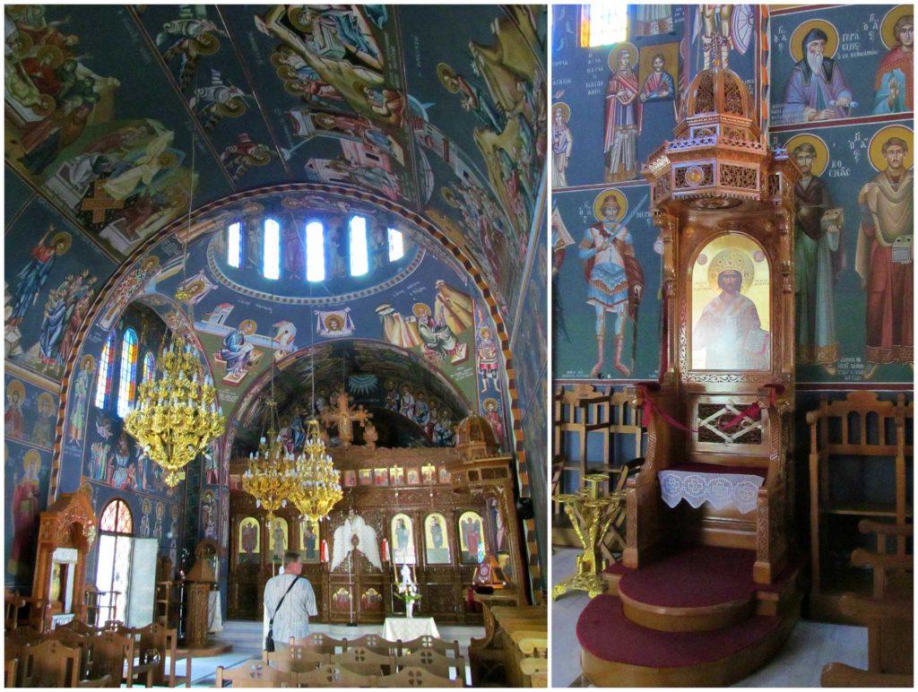 Храм в монастыре Святого Нектария на острове Родос