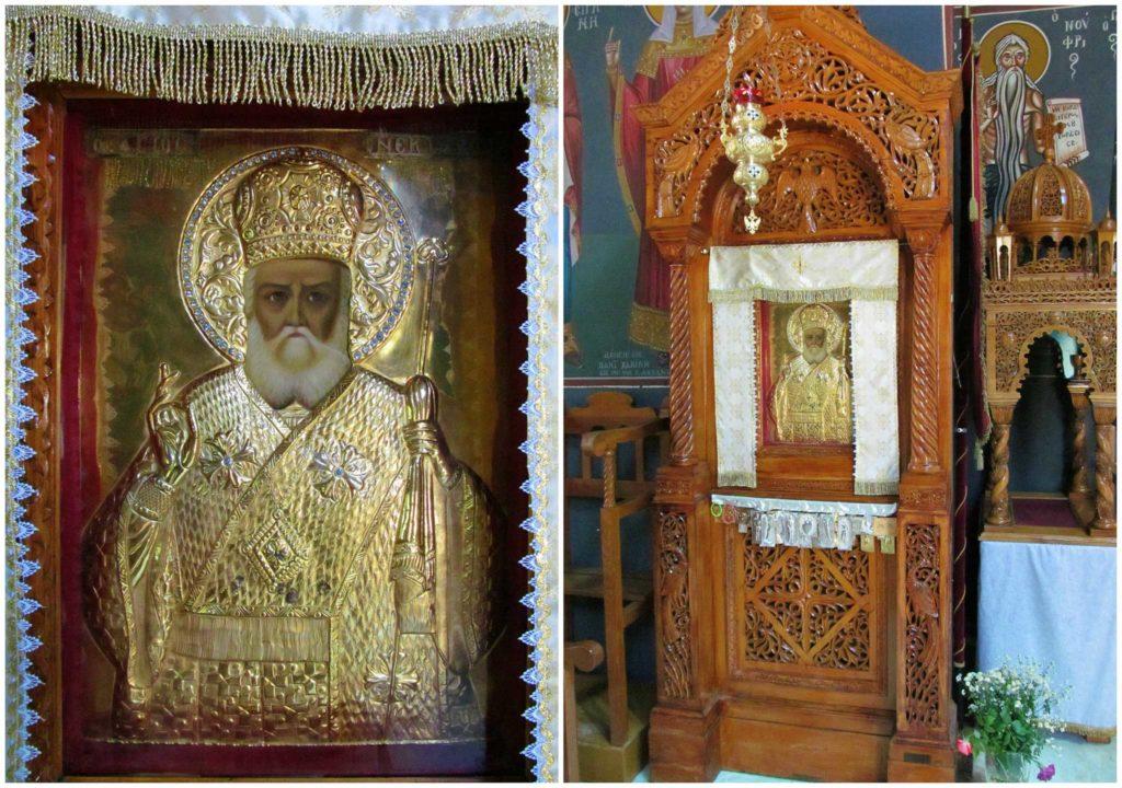 Иконы в монастыре Святого Нектария на острове Родос
