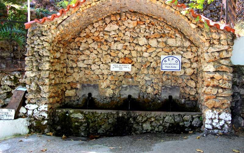 Святой источник в монастырь Святого Нектария на острове Родос