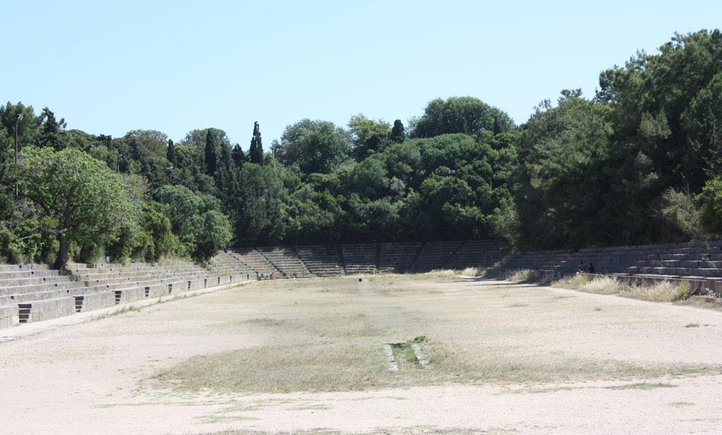 Стадион акрополя на горе Монте Смит на Родосе