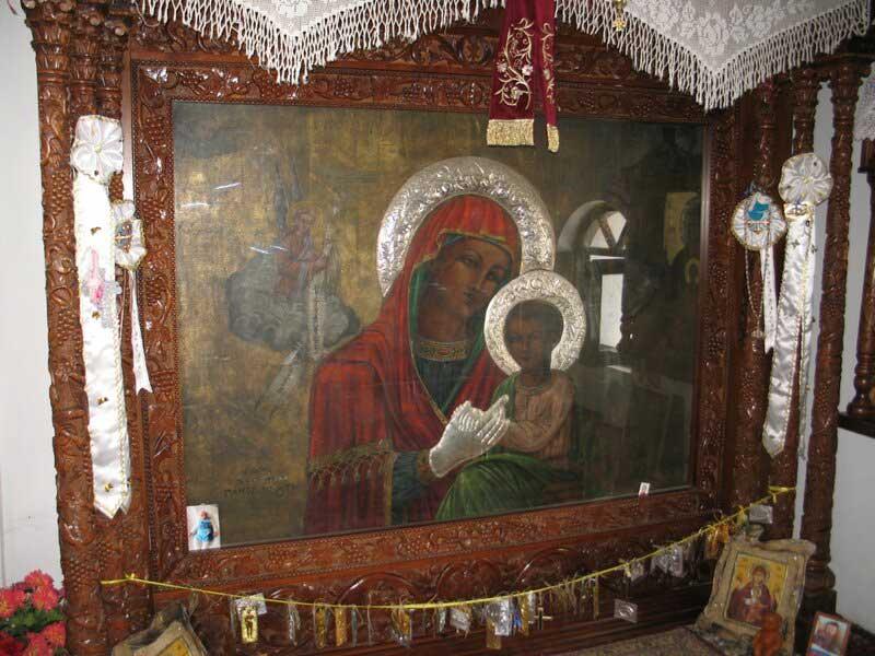 Редкая икона Божьей Матери в верхней Церкви Цамбика на острове Родос