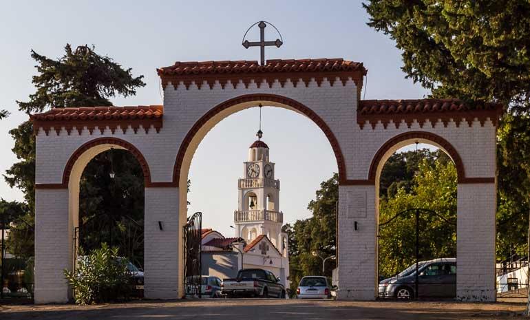 Остров Родос монастырь Цамбика