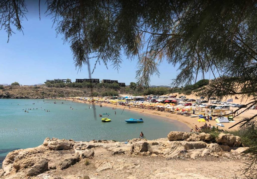 Водные развлечения на пляже Агафи