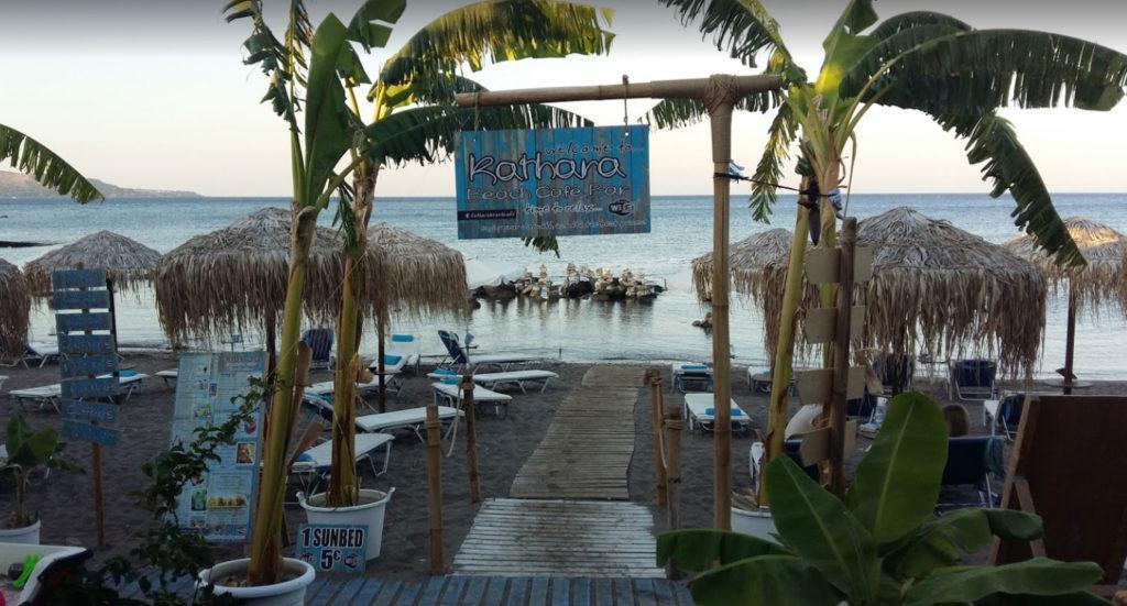 Кафе Катара-бич на пляже