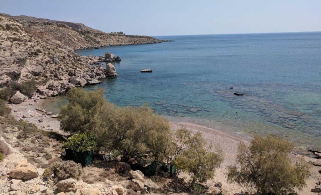 Дикий уединенный пляж Kokkini Ammos Beach
