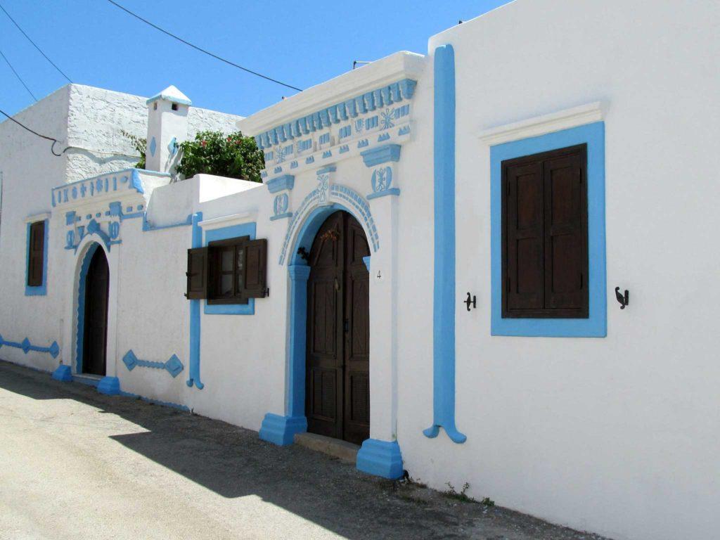 Традиционный греческий дом в деревне Коскину на острове Родос