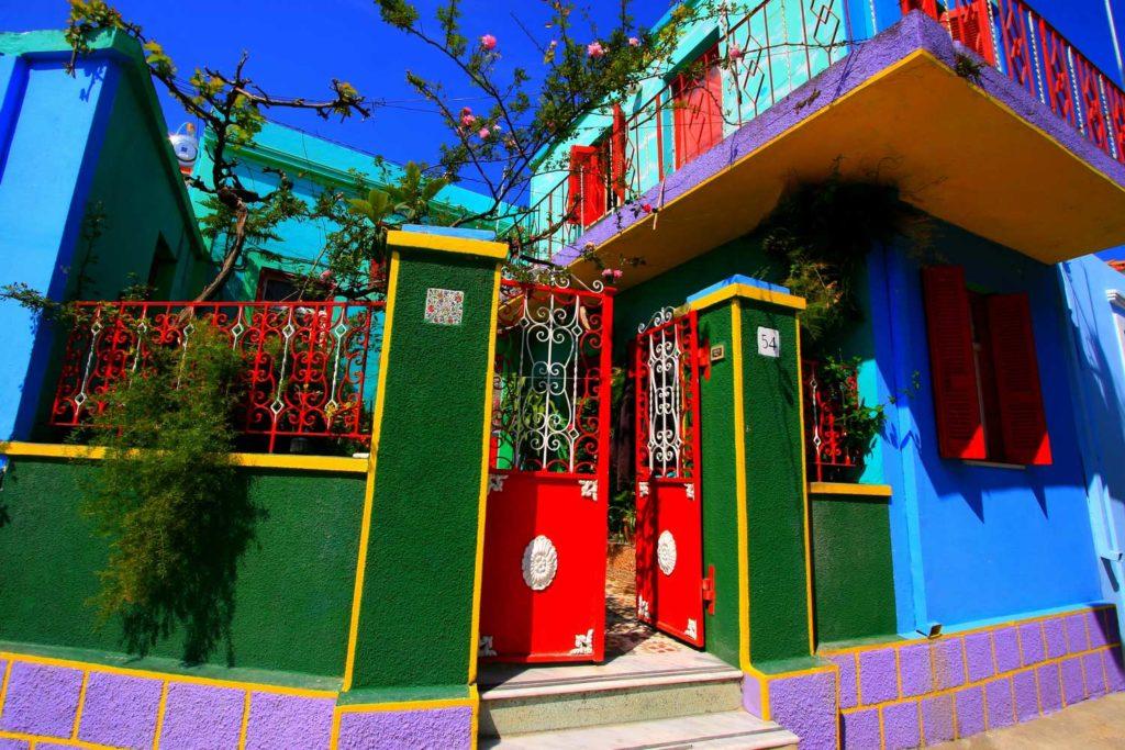 Цветные улицы деревни