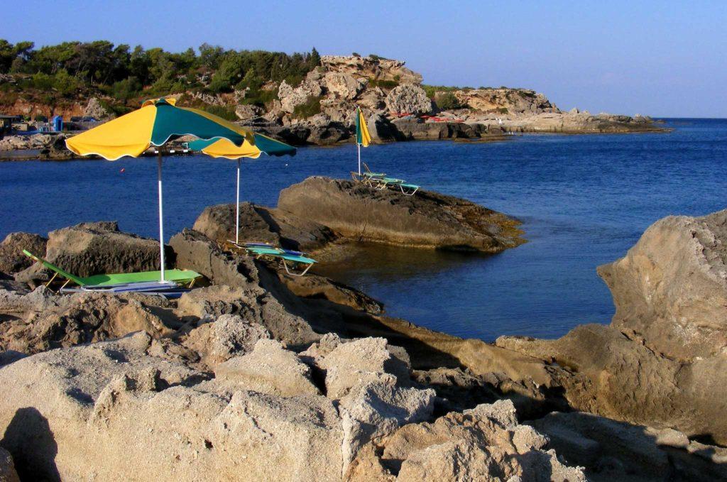 Экзотический пляж курорта Калифея на острове Родос