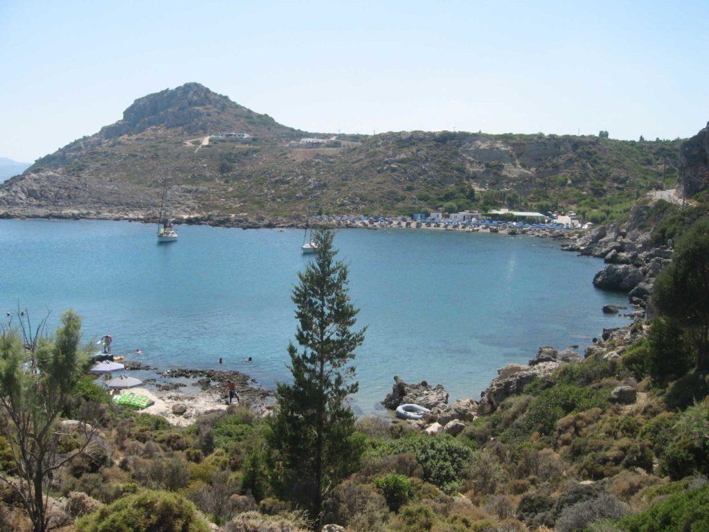 Пляжи бухты Ладико на острове Родос