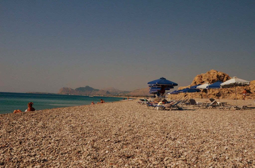 Галечный пляж Трагану