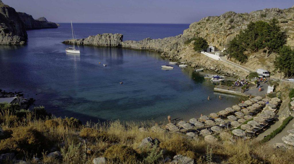 Вид бухту Святого Павла на острове Родос