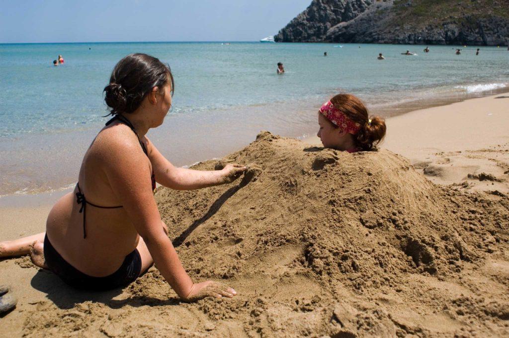 Идеальный для детского отдыха пляж