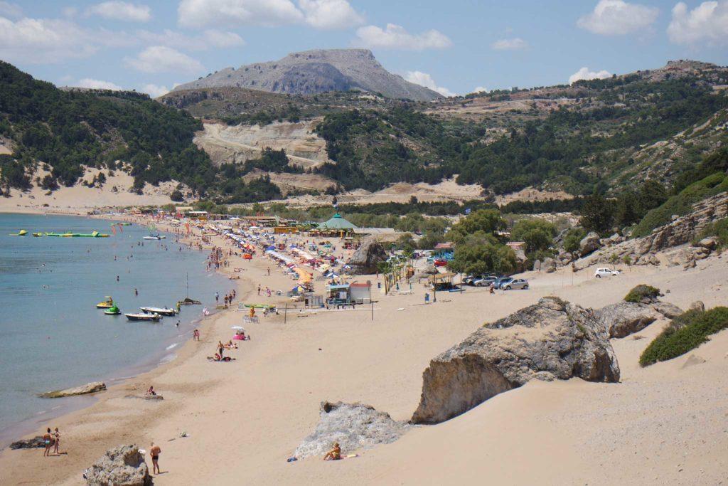 Пляж Цамбика на острове Родос