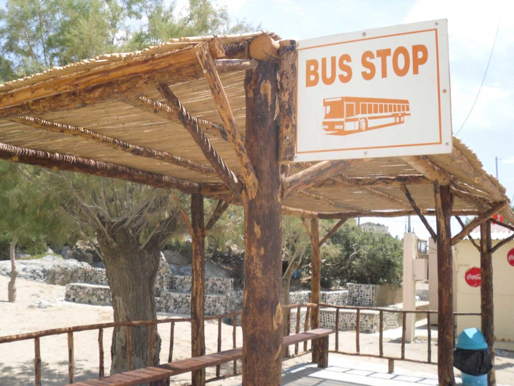 Автобусная остановка на пляже Цамбика