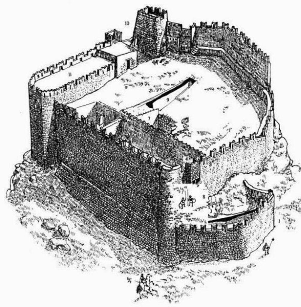 Замок Асклипио рисунок реконструкция