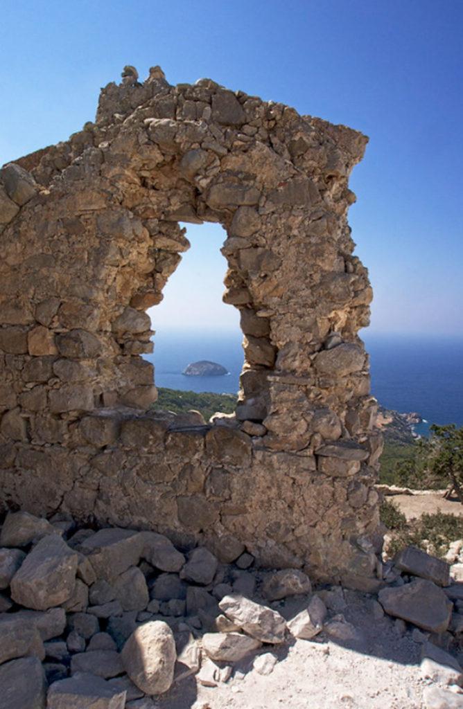 Эгейское море вид с замка Монолитос