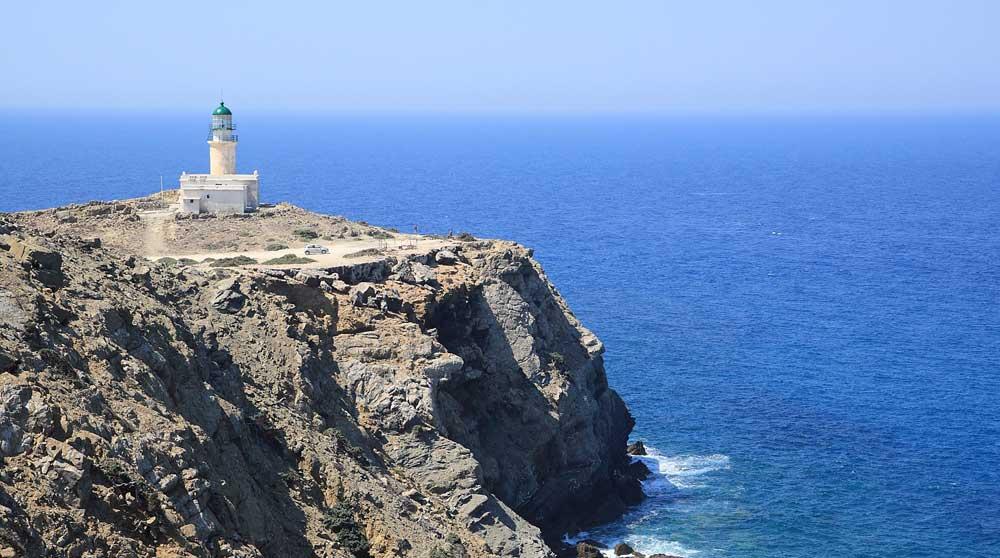 Маяк на мысе Прасониси на острове Родос