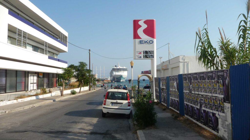 Цена бензина и дизельного топлива на Родосе