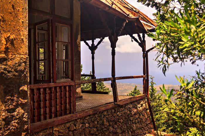 Балкон с видом на Эгейское море